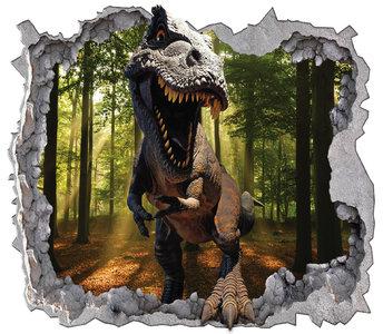 T-Rex in het bos - Dinosaurus behang XXXL