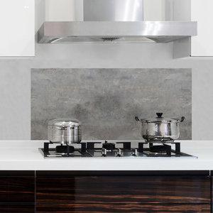 Keuken Achterwand Sticker Grijs Betonlook XL - 1 meter breed
