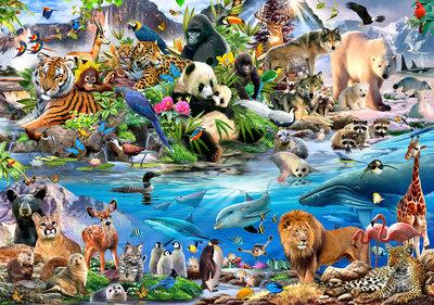 Dieren van de Wereld behang XXXL