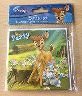 Bambi Uitnodigingskaarten (set van 5)